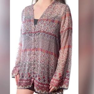Converse Bohemian Stylish Button Down Blouse.